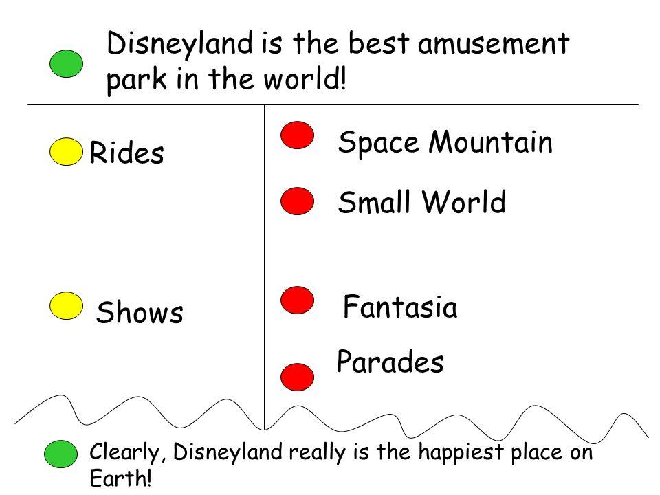Disneyland is the best amusement park in the world.