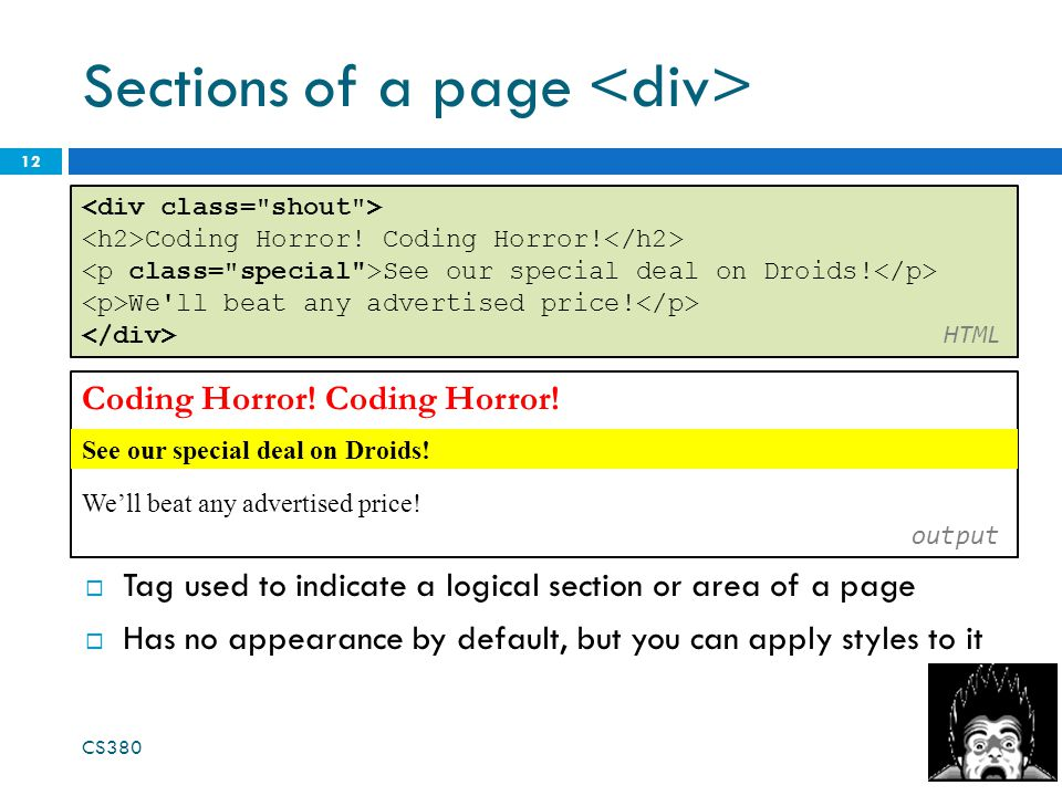 Sections of a page 12 Coding Horror. We'll beat any advertised price.