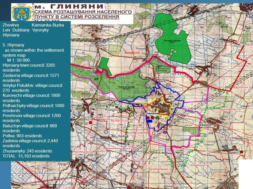 4 - Zolochiv dDstrict Consumers' Association, Bakery Plant (investor is sought): 0.95 ha 5 - Farmstead territory, Sheptytsky St: 2.2 ha 6 – Lotniski Tract: 5 ha 7 – National Park (2-storey house): 0.2 ha, Sheptytsky St 7
