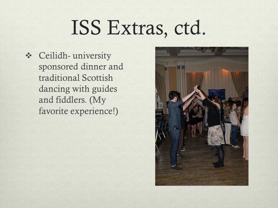 ISS Extras, ctd.