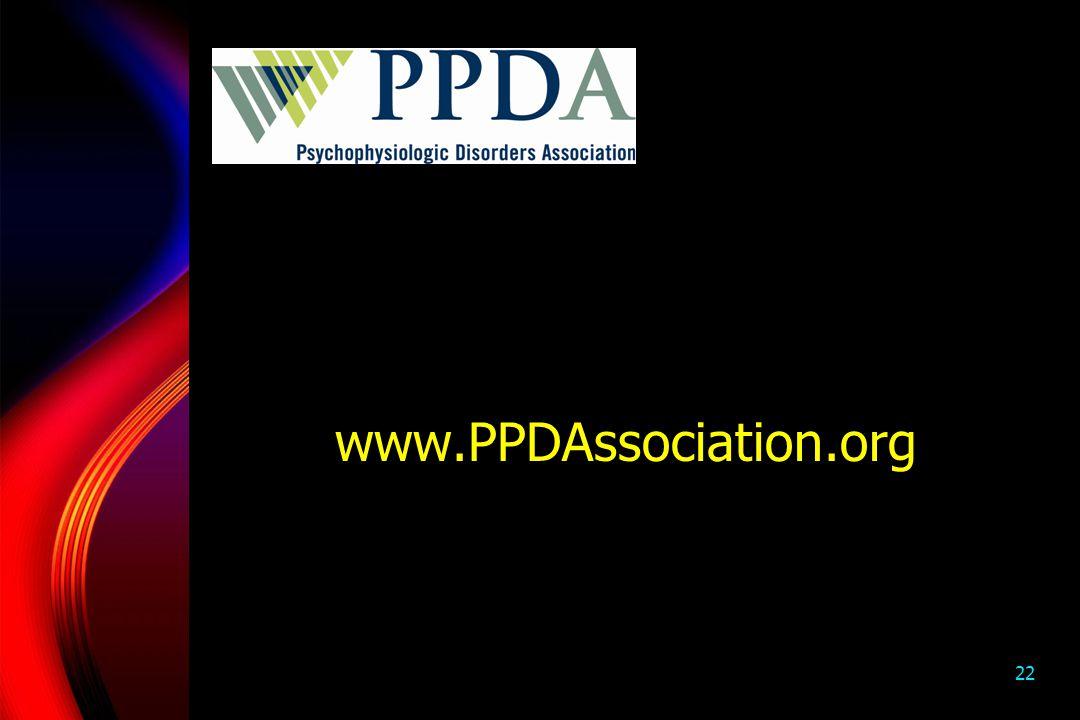 22 www.PPDAssociation.org