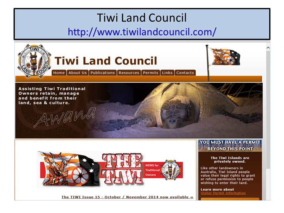 Tiwi Land Council http://www.tiwilandcouncil.com/