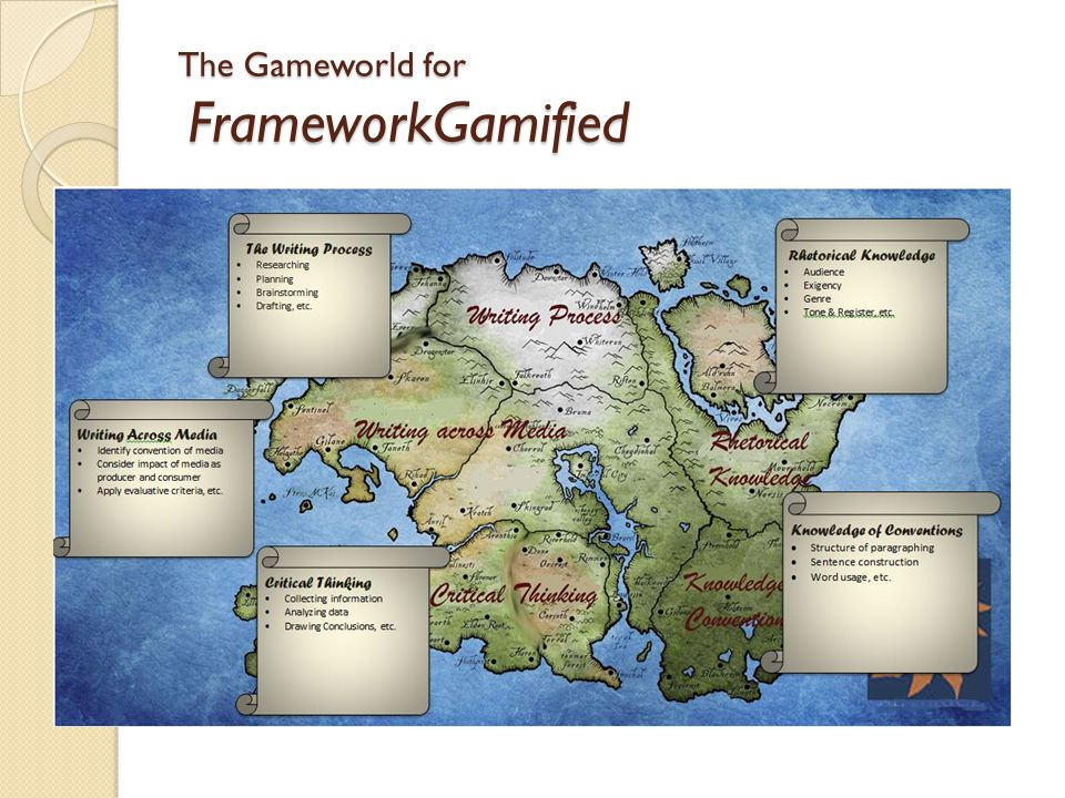 The Gameworld for FrameworkGamified