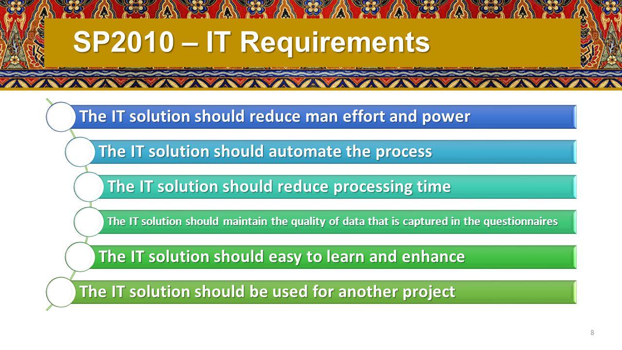 SP2010 – IT Solution automation & digitation data collection process Kofax Data Capture 9