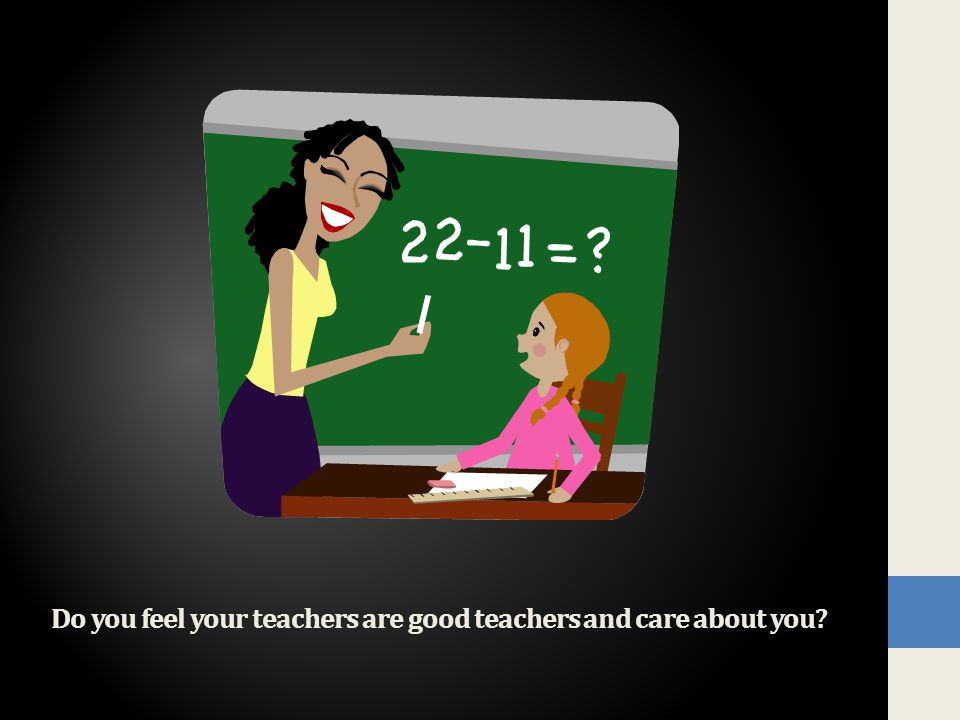 Do you feel your teachers are good teachers and care about you?