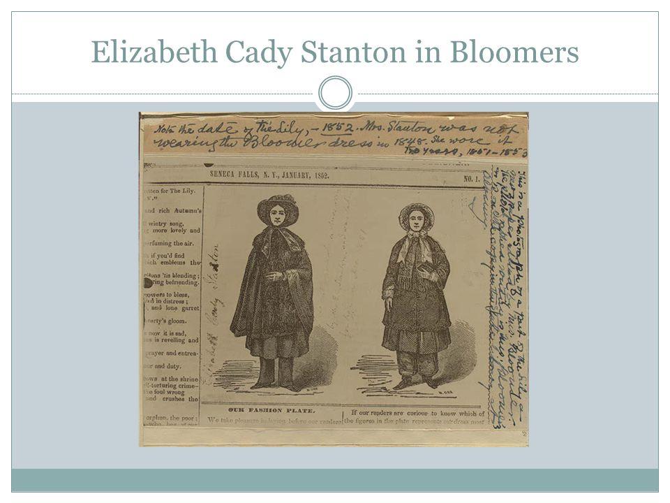 Elizabeth Cady Stanton in Bloomers