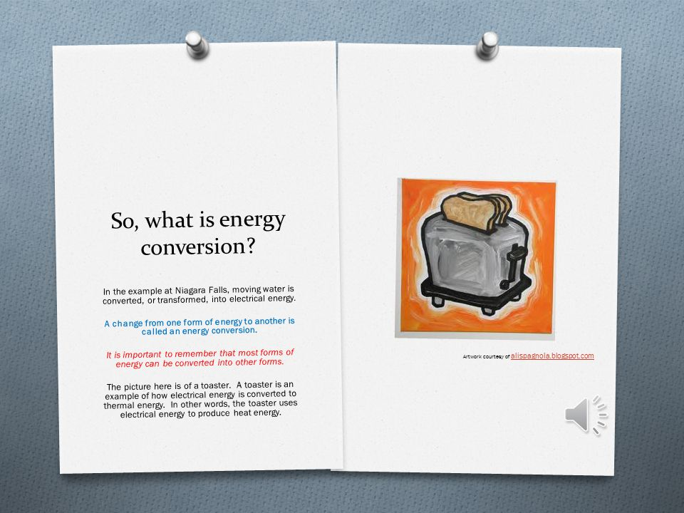 So, what is energy conversion.