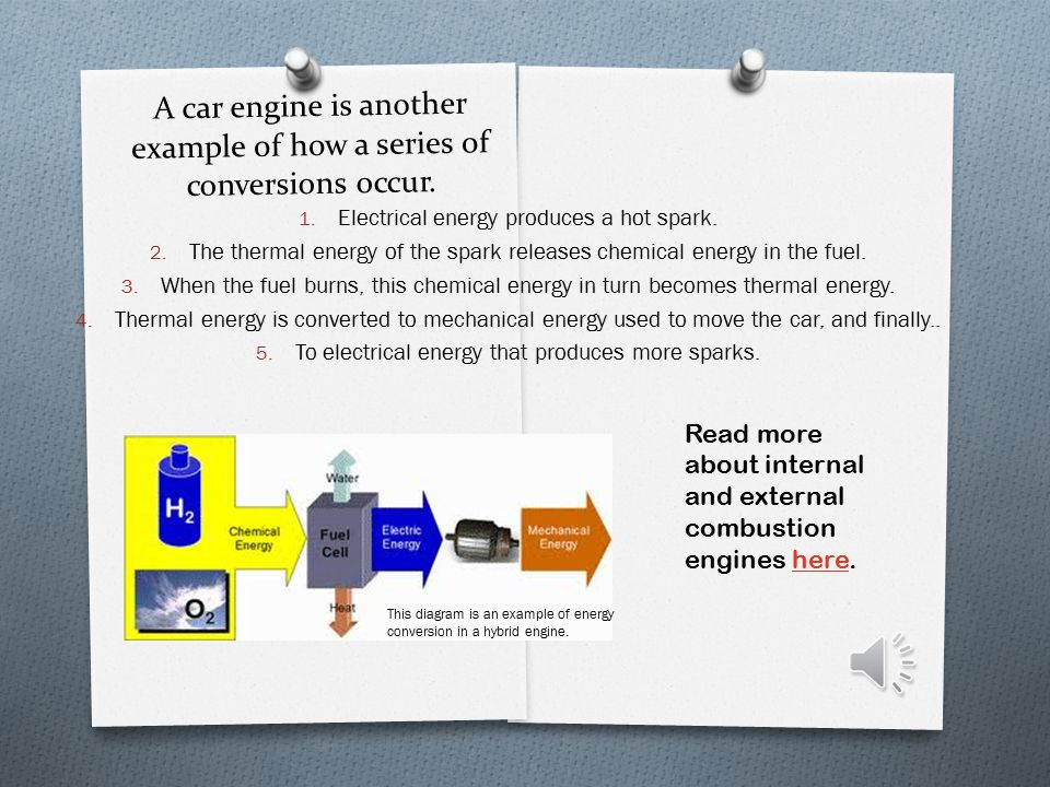 Often a series of energy conversions is needed to do a task.