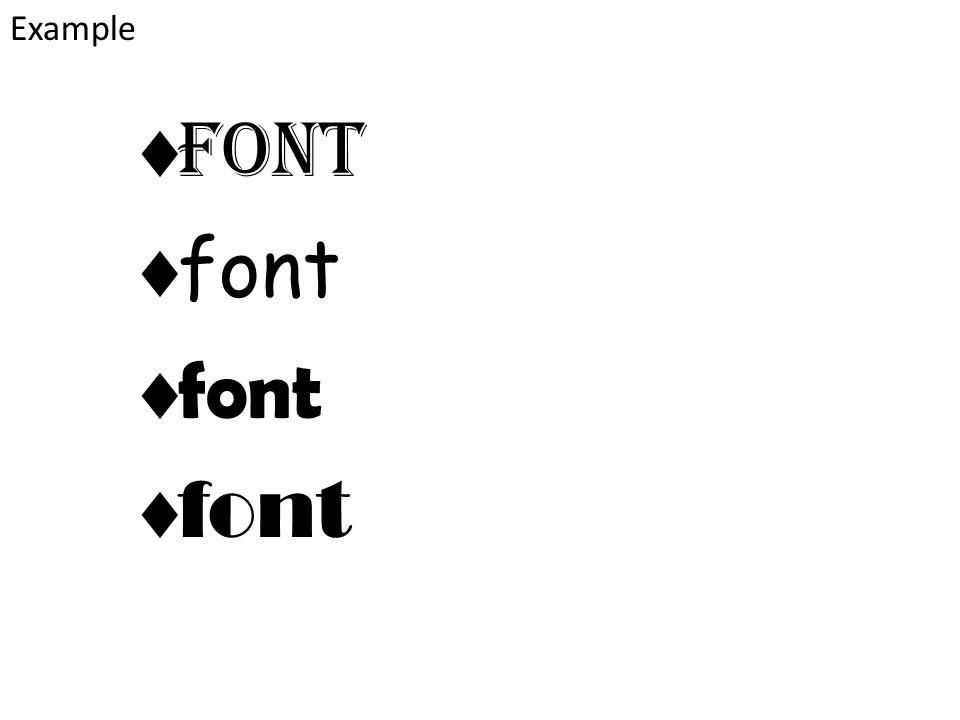  Font  font Example