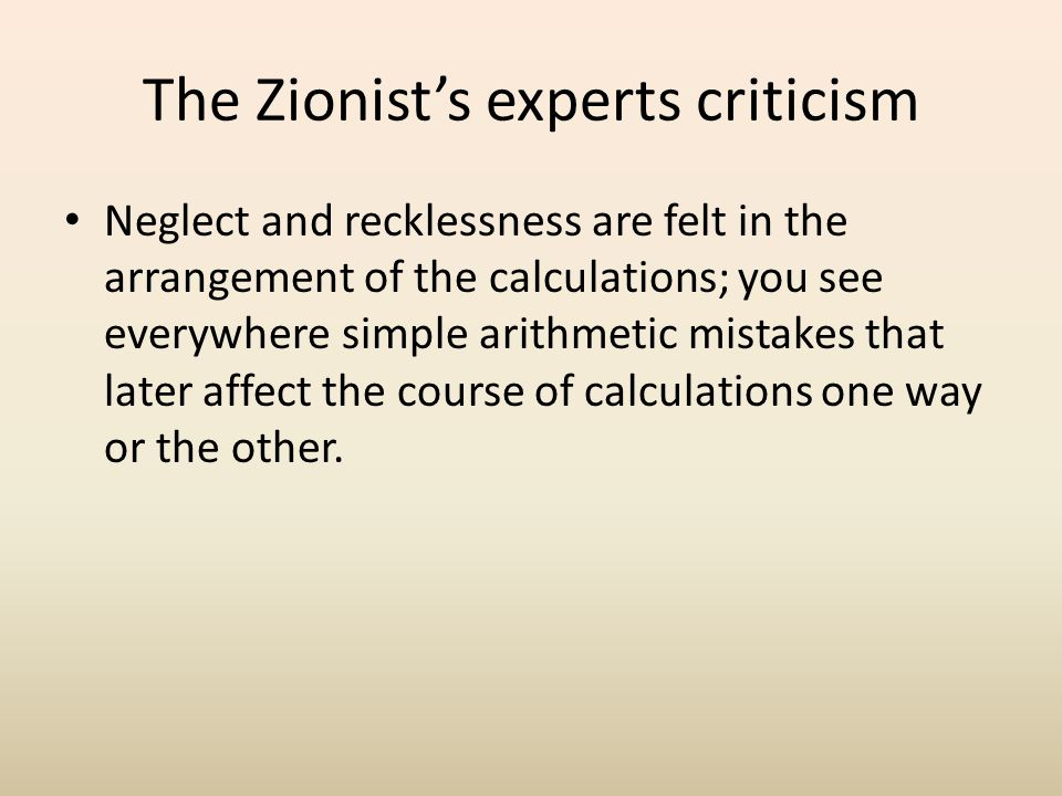 The Zionist's experts criticism Ionides compares the situation of dry farming to that in wet farming.