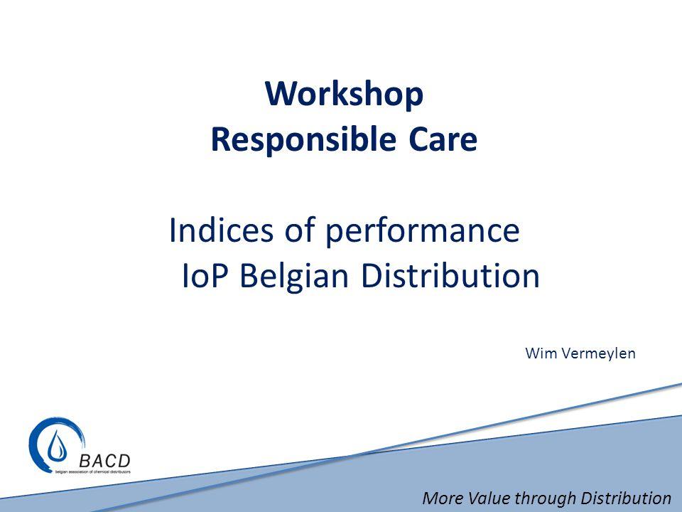 Workshop Responsible Care Indices of performance IoP Belgian Distribution Wim Vermeylen