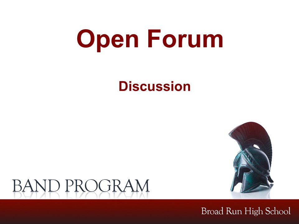 Open Forum Discussion