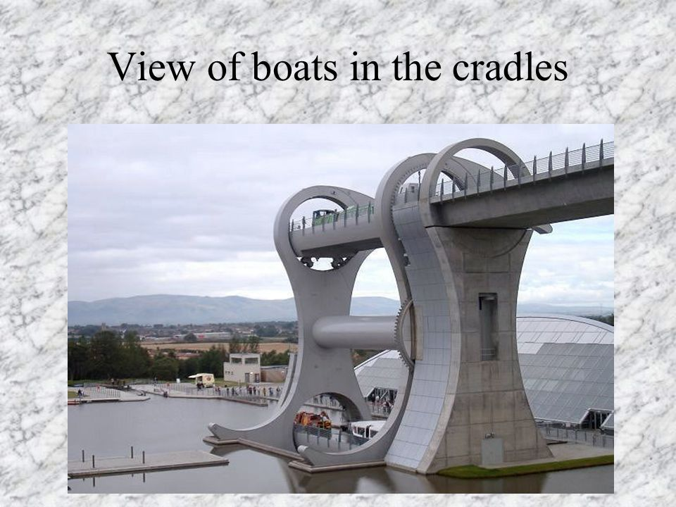 View of boats in the cradles