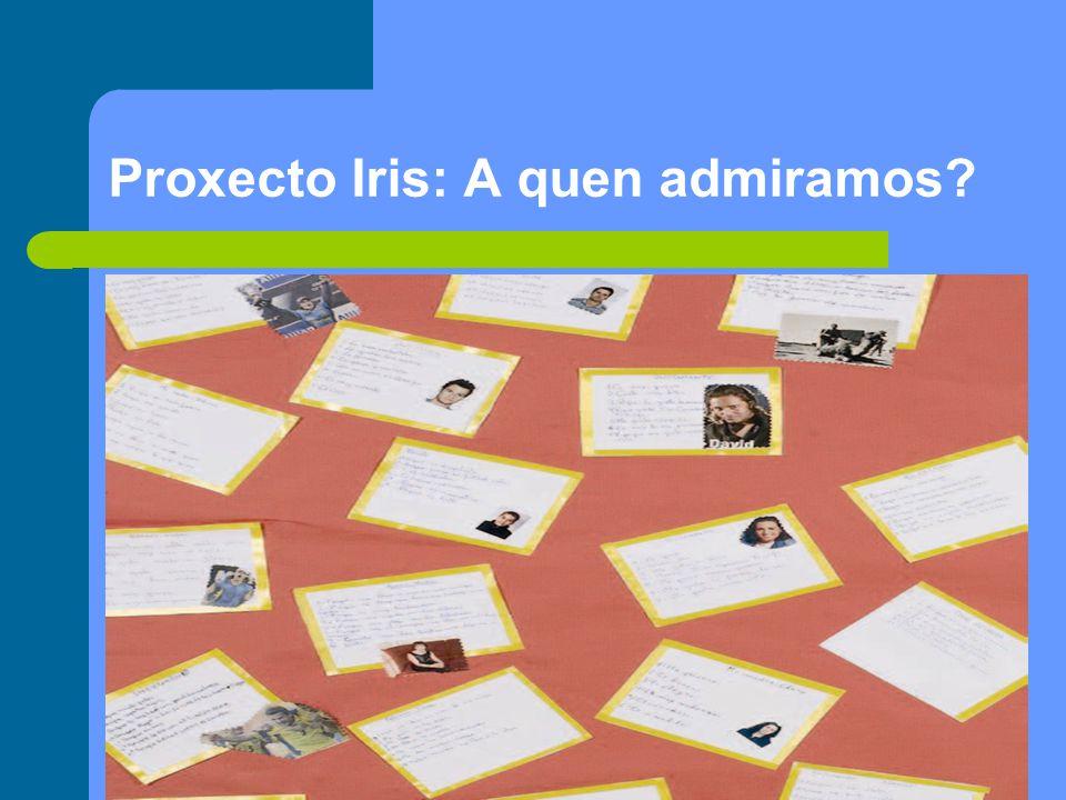 Proxecto Iris: A quen admiramos?