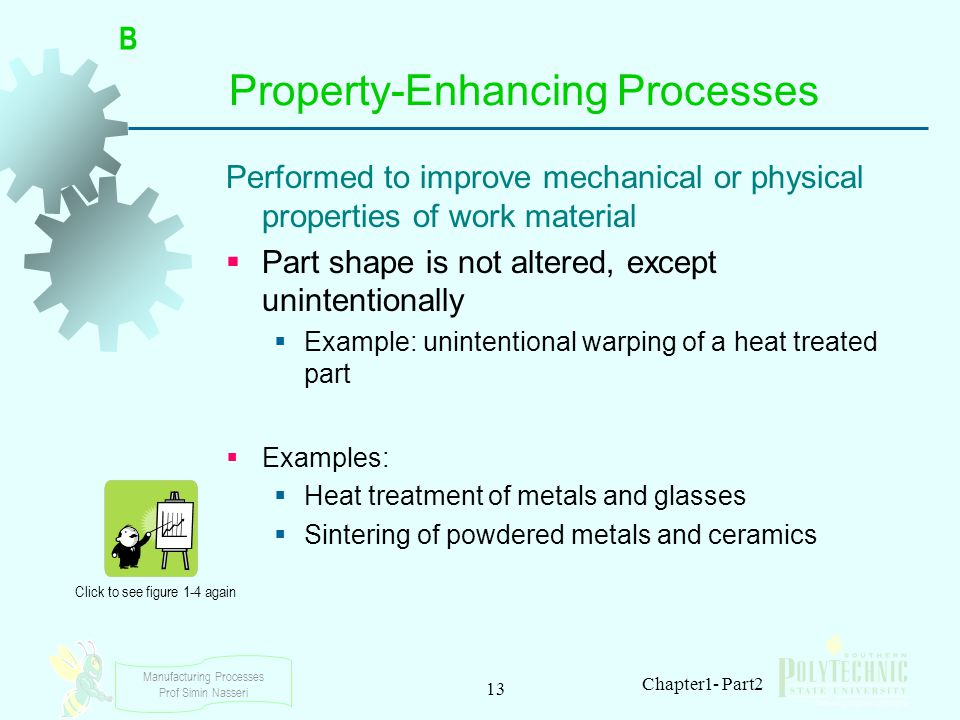 Manufacturing Processes Prof Simin Nasseri 13 Chapter1- Part2 Property ‑ Enhancing Processes Performed to improve mechanical or physical properties of