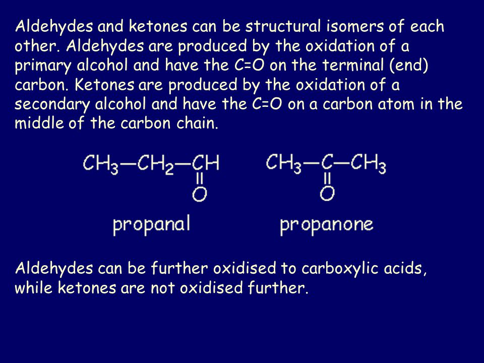 Aldehydes and ketones can be structural isomers of each other.