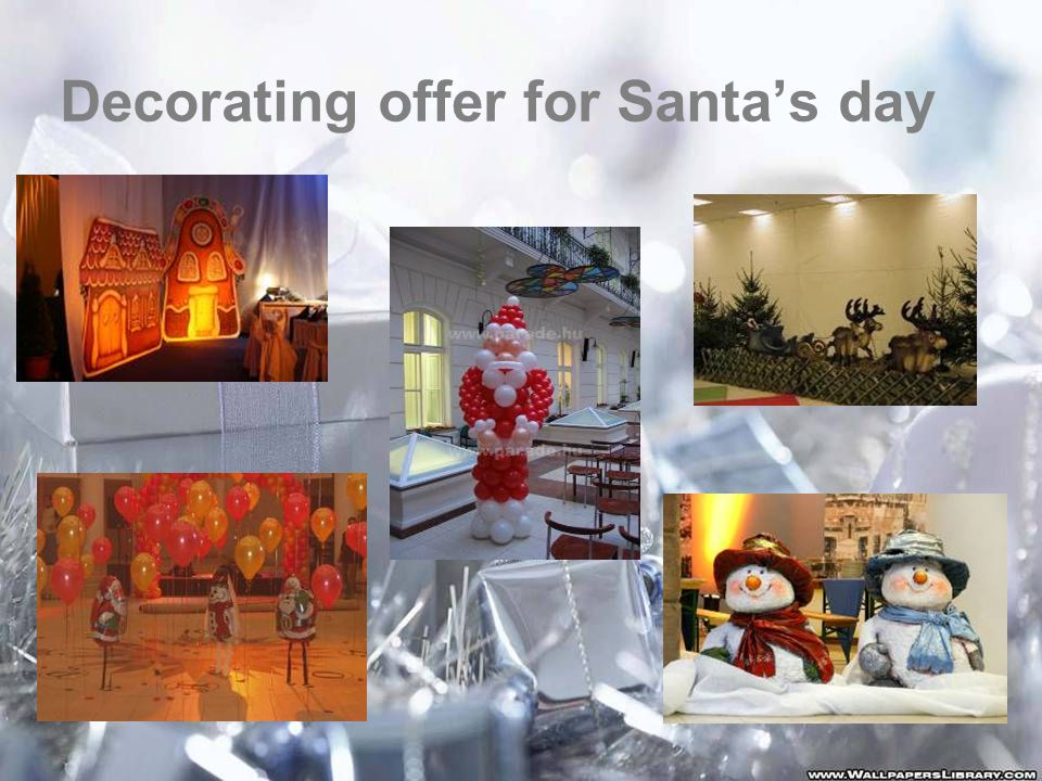 Decorating offer for Santa's day