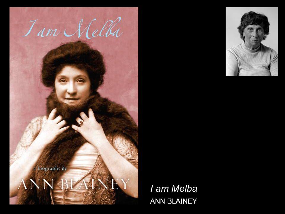 I am Melba ANN BLAINEY