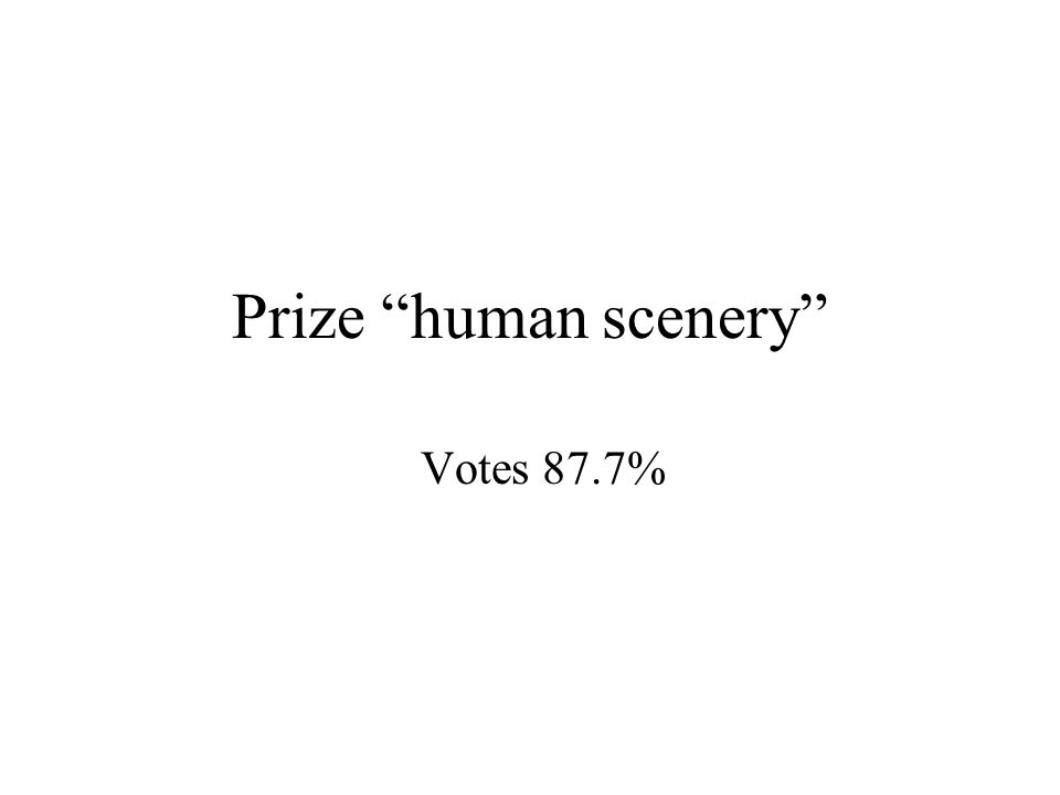Prize human scenery Votes 87.7%