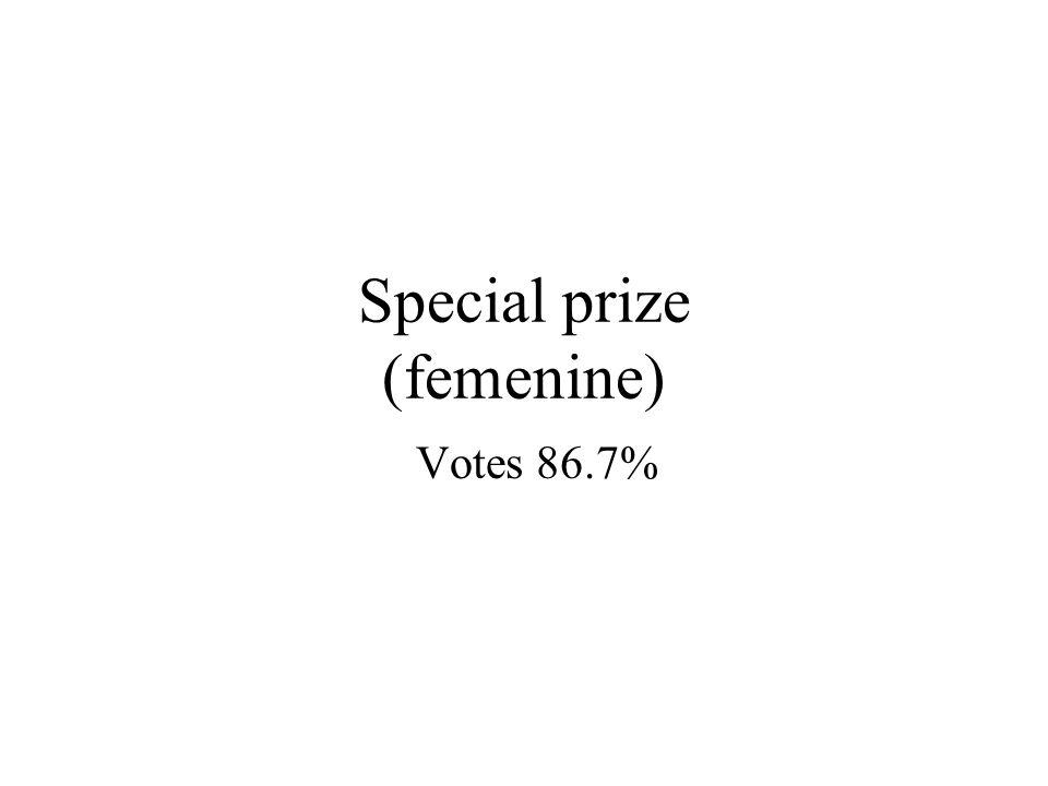 Special prize (femenine) Votes 86.7%