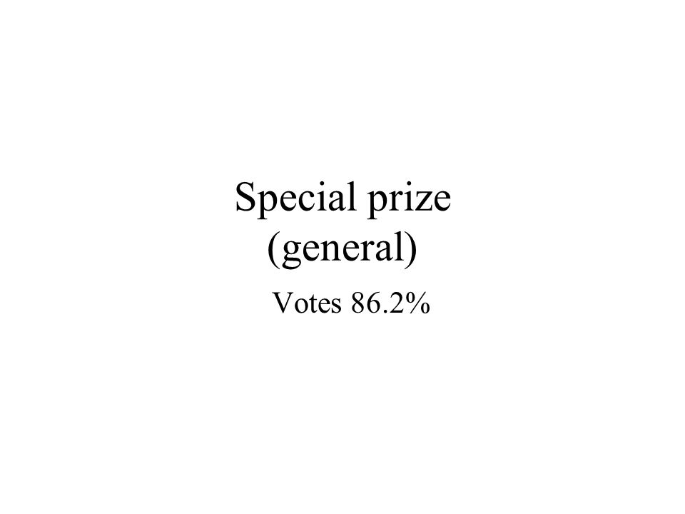 Special prize (general) Votes 86.2%