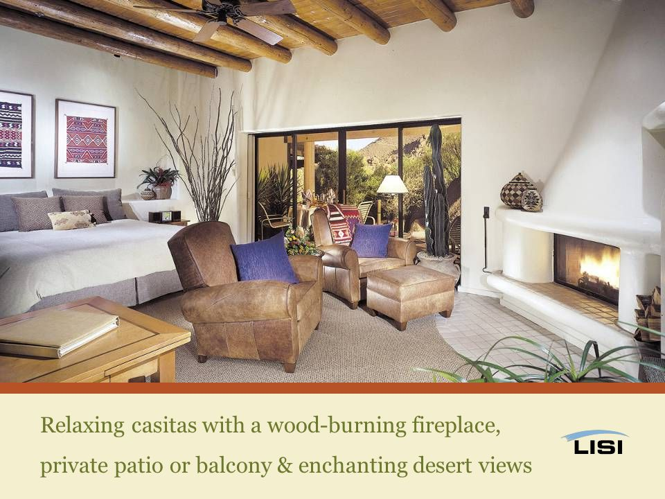 Relaxing casitas with a wood-burning fireplace, private patio or balcony & enchanting desert views