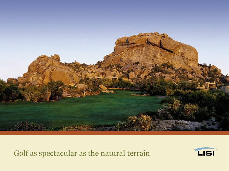 Golf as spectacular as the natural terrain