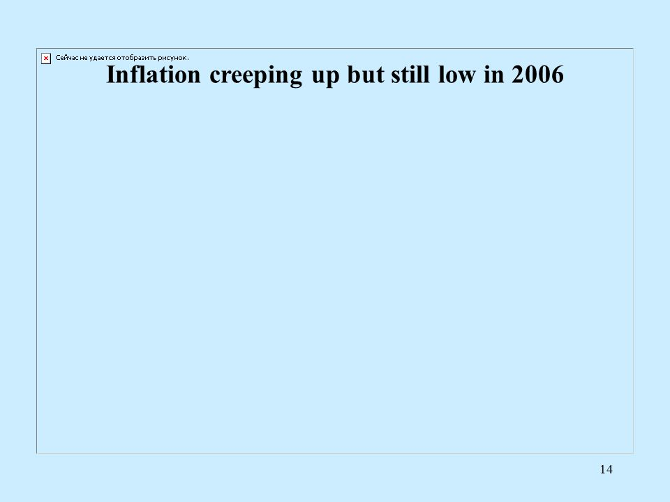 14 Inflation creeping up but still low in 2006