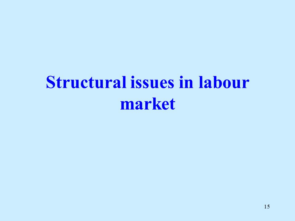 15 Structural issues in labour market