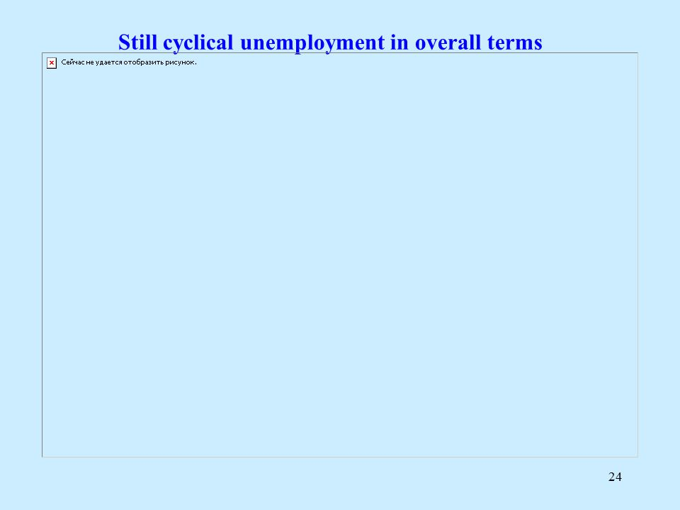 24 Still cyclical unemployment in overall terms