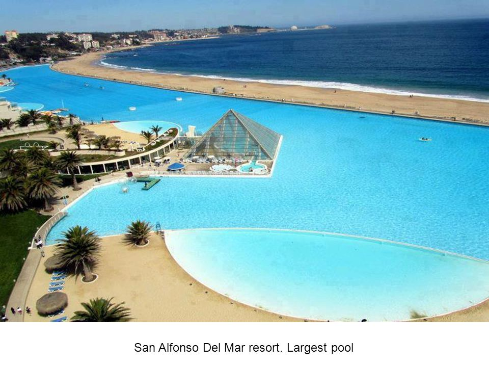 San Alfonso Del Mar resort. Largest pool