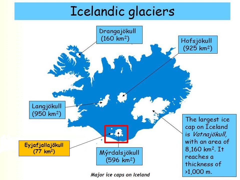 Eyjafjallajökull (77 km 2 )