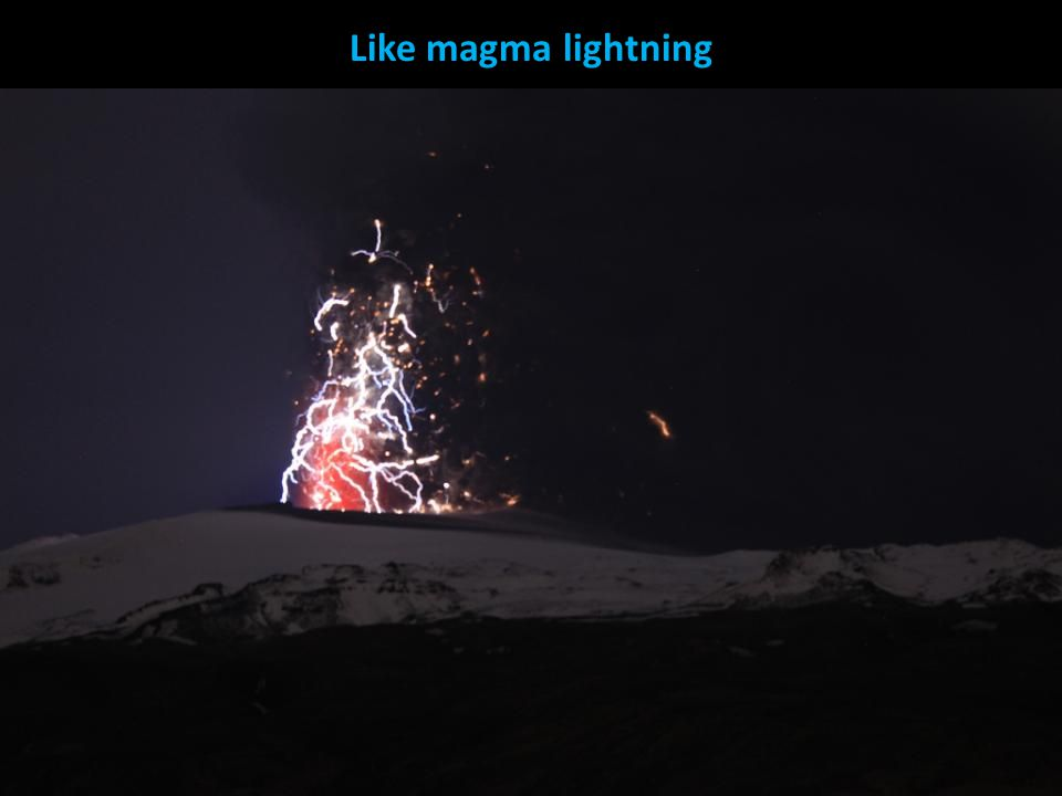Like magma lightning
