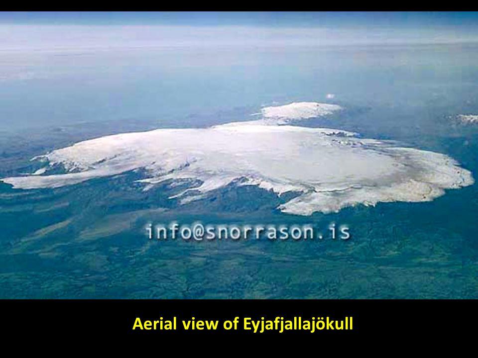 Aerial view of Eyjafjallajökull