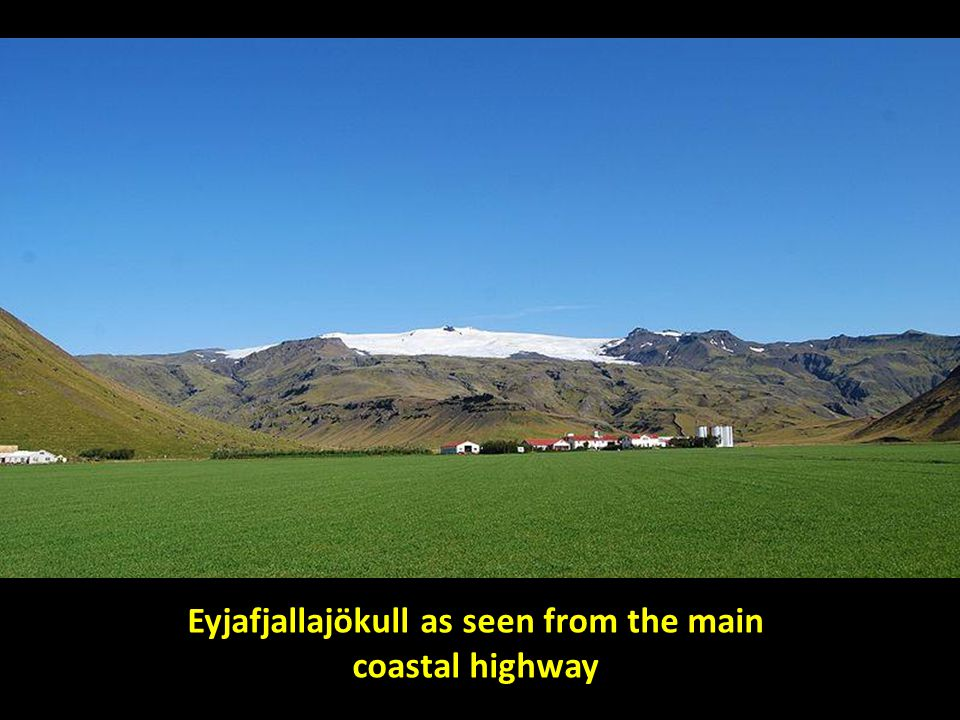 Eyjafjallajökull as seen from the main coastal highway