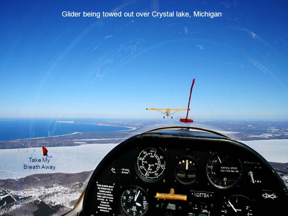 Glider being towed out over Crystal lake, Michigan Take My Breath Away