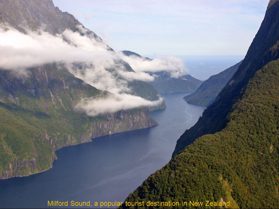 Mitre Peak (1692 m) is a horn located in the inner reaches of Milford Sound, New Zealand.
