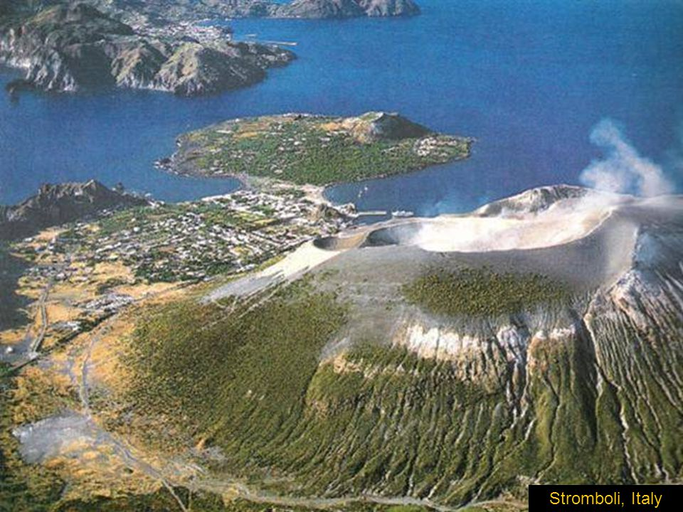 Stromboli is located North of Sicily in the Mediteranean