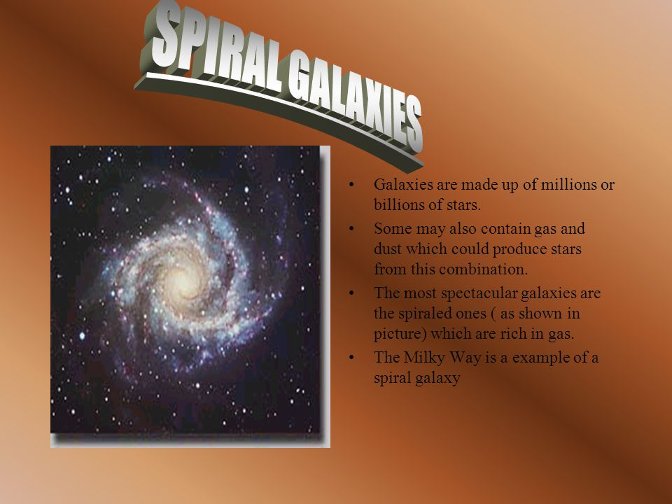 SPIRAL GALAXIESSPIRAL GALAXIES