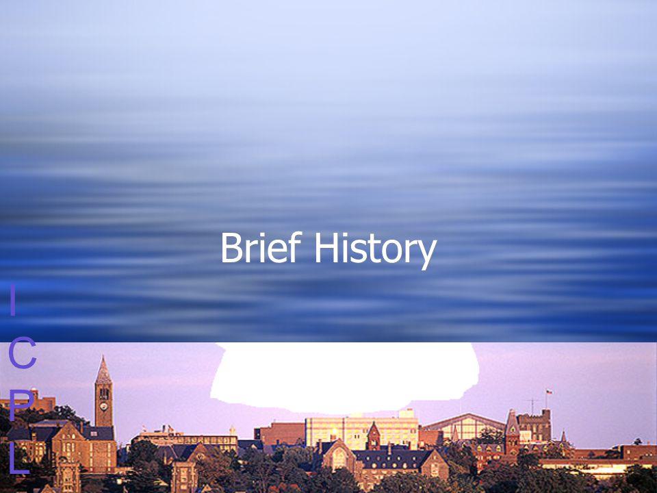 ICPLICPL Brief History