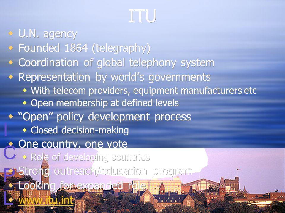 ICPLICPL ITU  U.N.