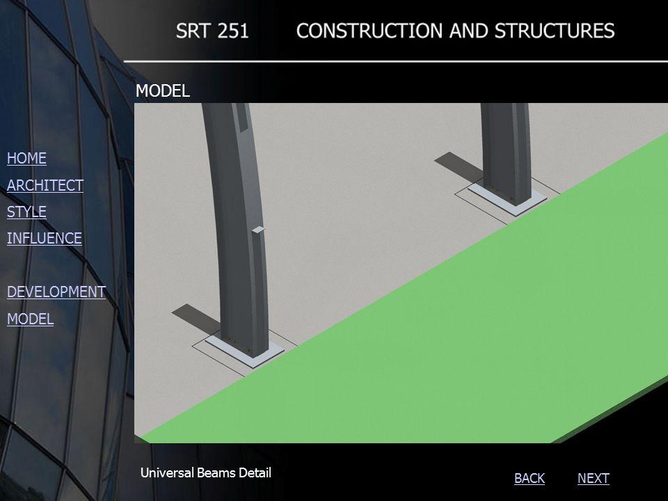 NEXTBACK Universal Beams Detail HOME ARCHITECT STYLE INFLUENCE DEVELOPMENT MODEL