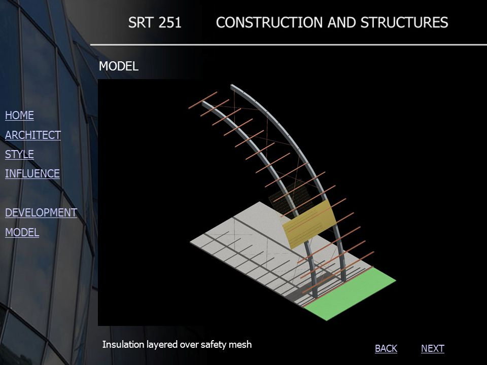 NEXTBACK Insulation layered over safety mesh HOME ARCHITECT STYLE INFLUENCE DEVELOPMENT MODEL