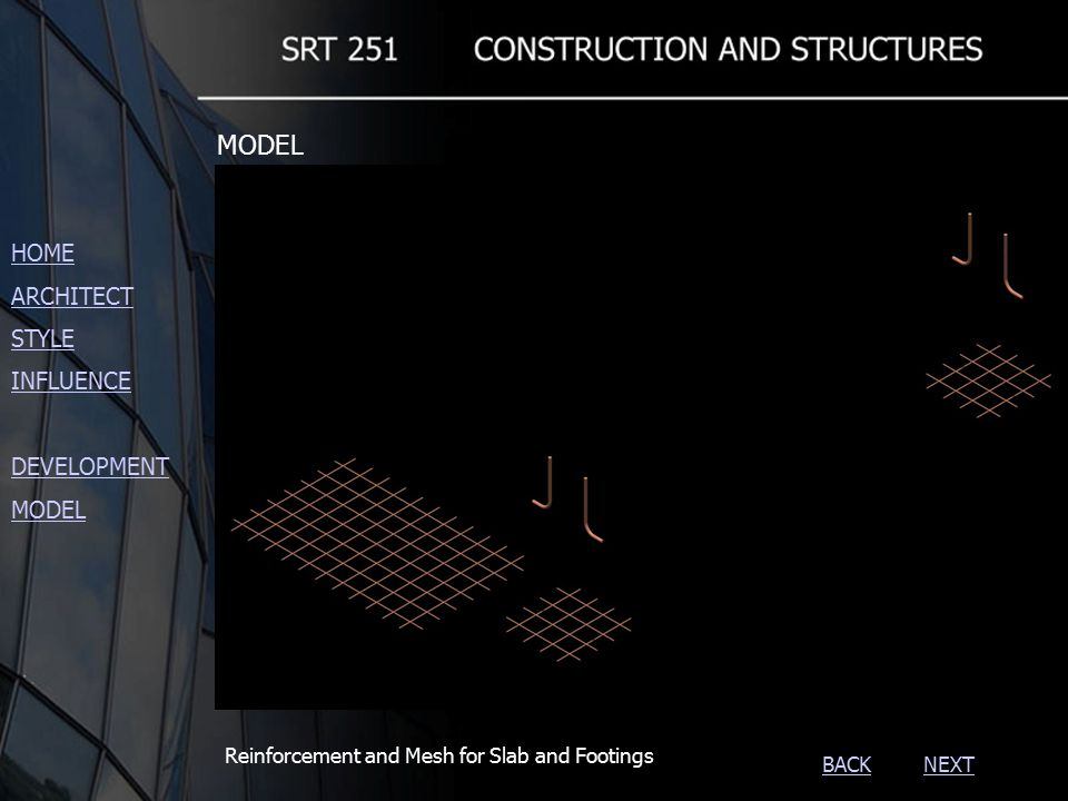 NEXTBACK Slab and Footings detail HOME ARCHITECT STYLE INFLUENCE DEVELOPMENT MODEL