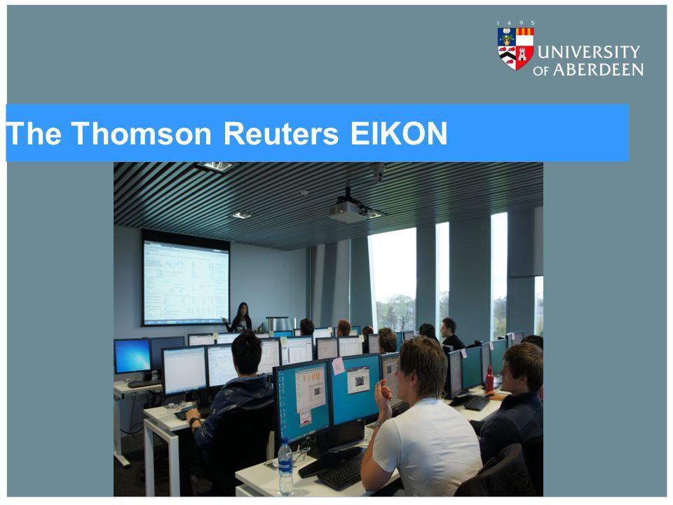 The Thomson Reuters EIKON