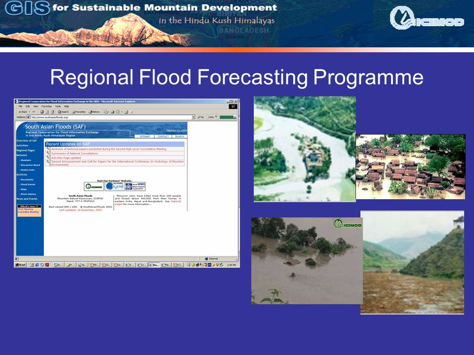 Regional Flood Forecasting Programme