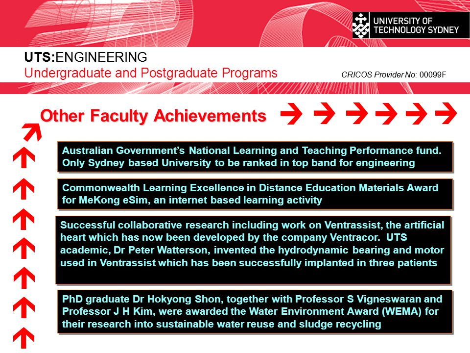 UTS:ENGINEERING CRICOS Provider No: 00099F Master of Environmental Engineering Management (MEEM) 1 year full time - 8 subjects UTS:ENGINEERING Postgraduate Programs CRICOS Provider No: 00099F The MEEM is designed to enable engineers and other technical specialists to take a leadership role in the field of environmental engineering.