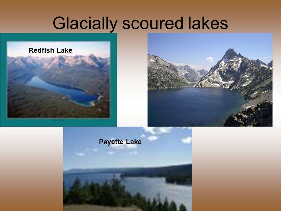 Glacially scoured lakes Redfish Lake Payette Lake