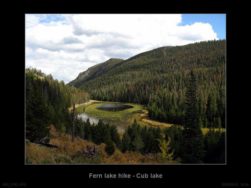 Fern lake hike - Cub lake IMG_0183.JPG2008-09-21 14:04