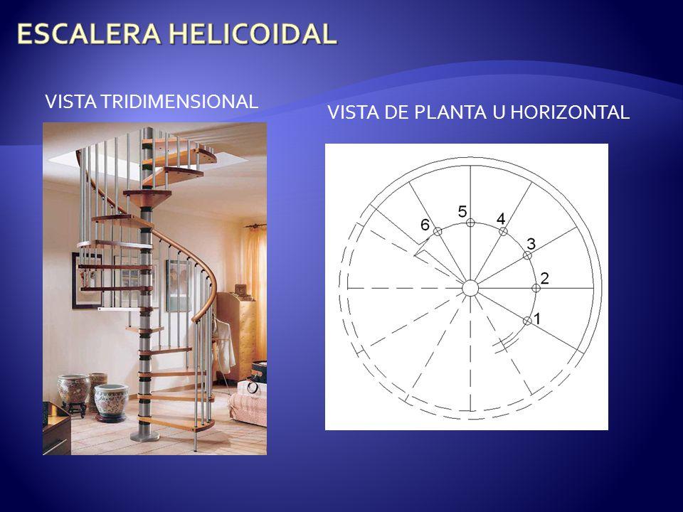 VISTA TRIDIMENSIONAL VISTA DE PLANTA U HORIZONTAL
